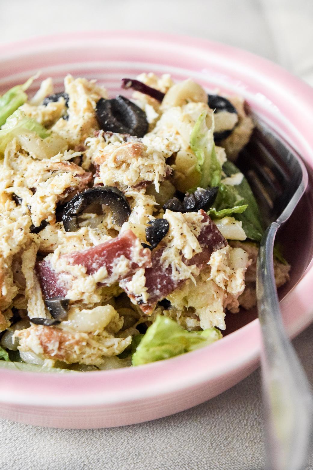 Gluten Free Pasta Chicken Salad Creamy Dairy Free Dressing